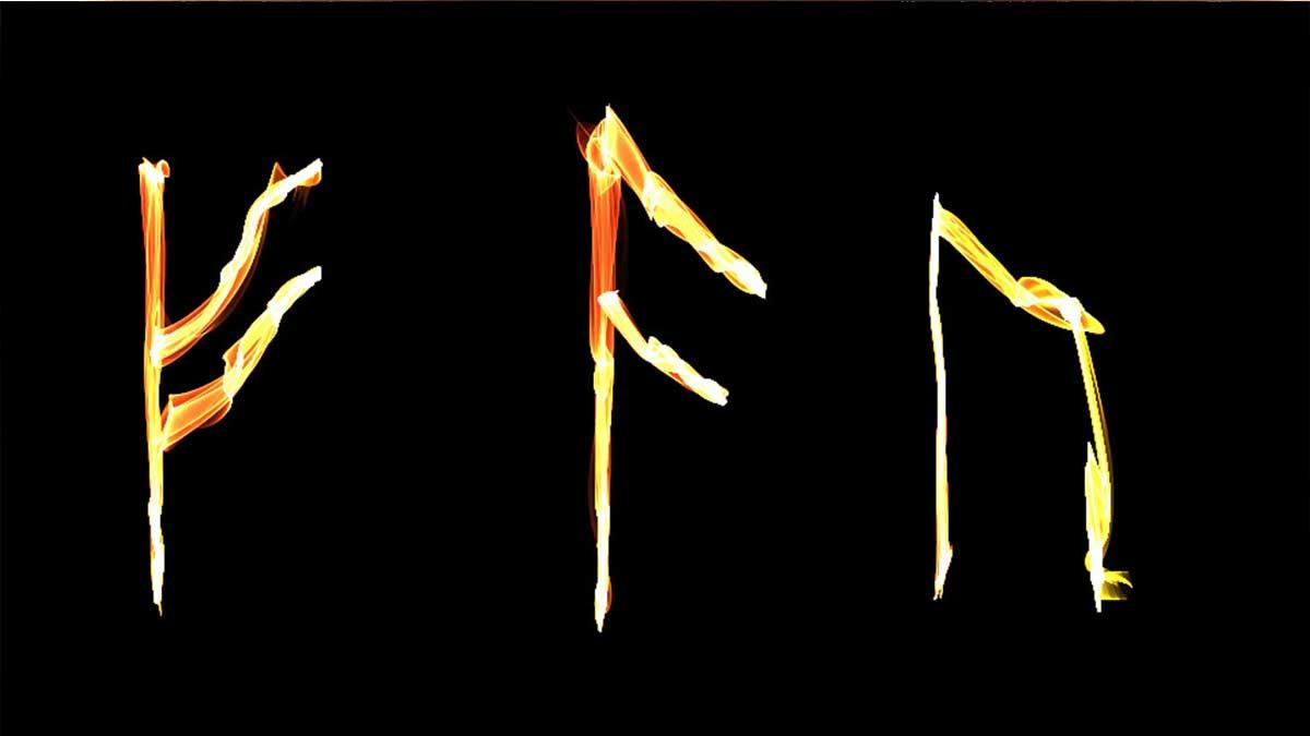Руны, нарисованные огнем. Огненные знаки